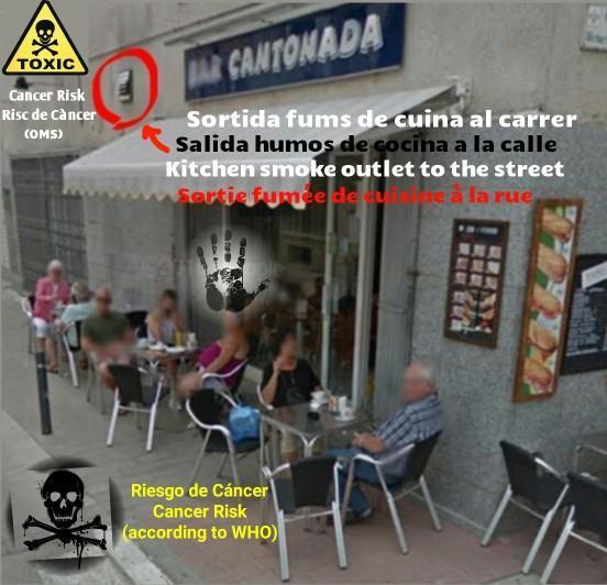 Bar cantonada estartit salida humos exit smoke 1