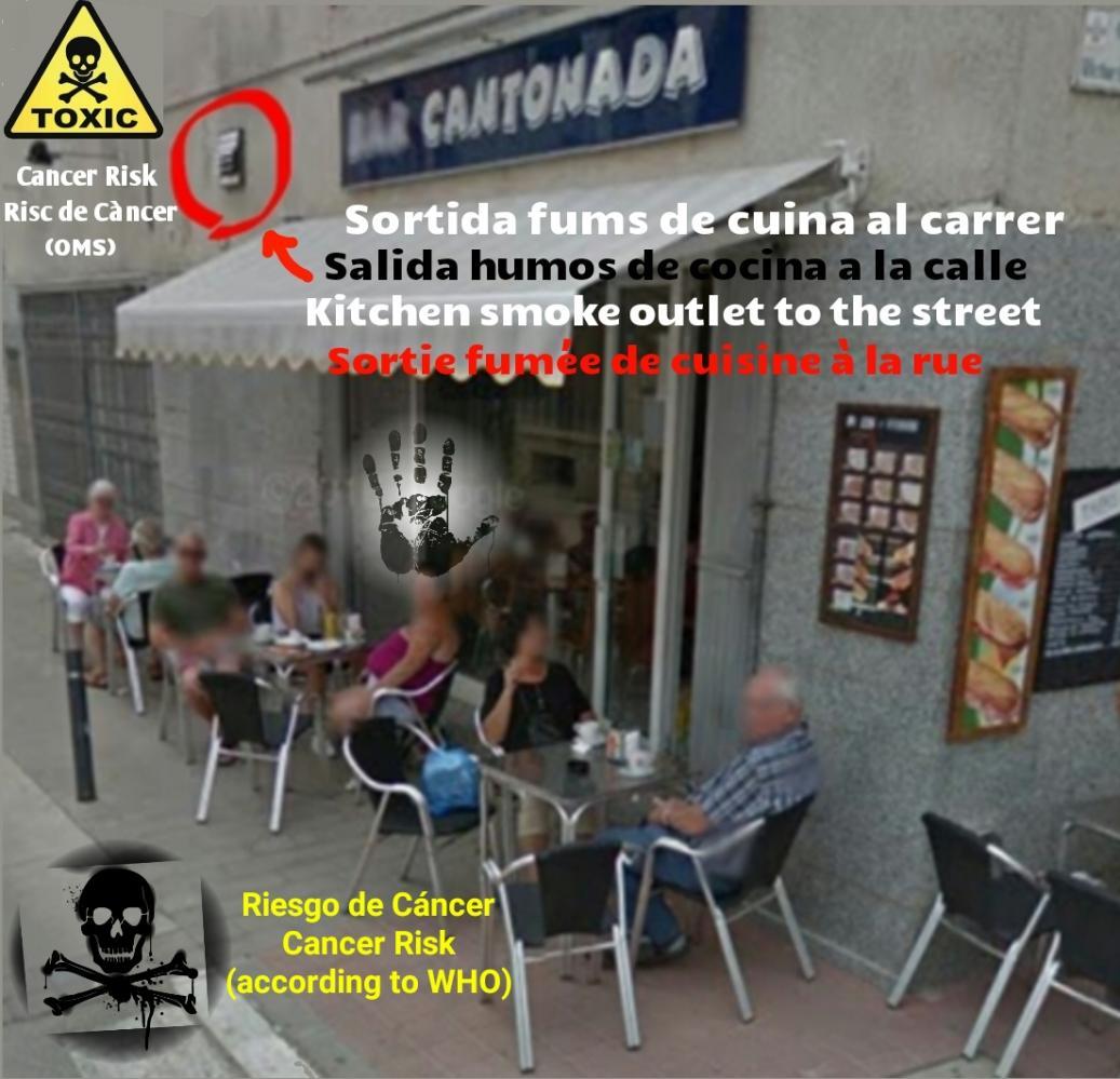 Bar cantonada estartit salida humos exit smoke