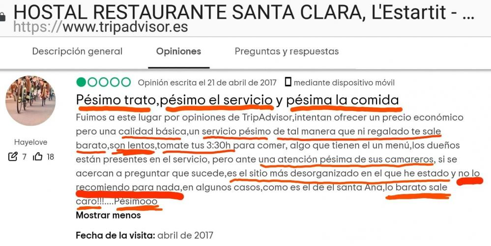 Hostal estartit santa clara reviews