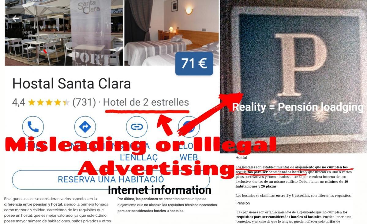 Hostal santa clara estartit advertising