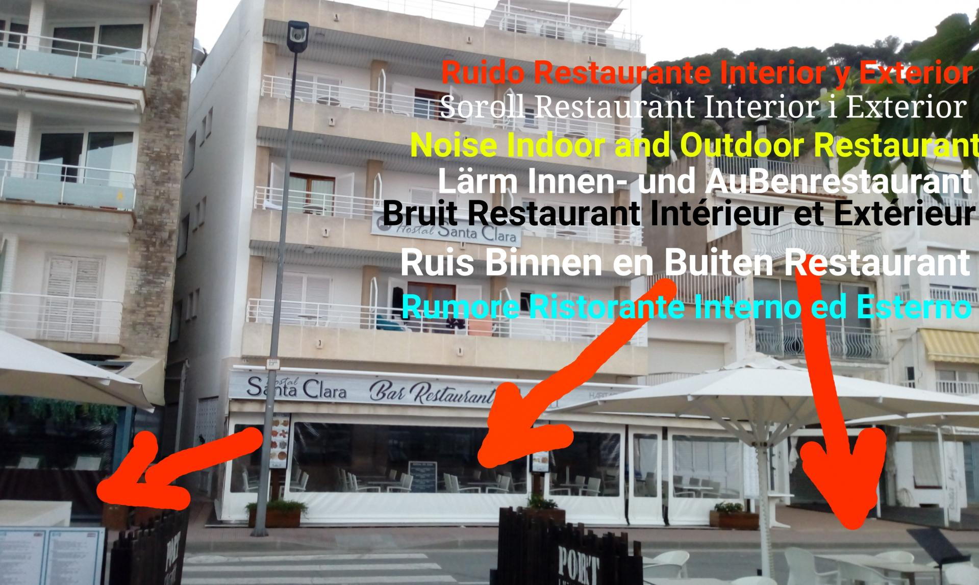 Hostal santa clara estartit restaurant habitacion