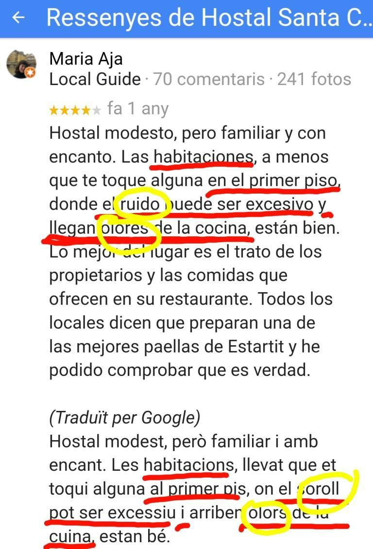Hostal santa clara estartit reviews opinion opiniones