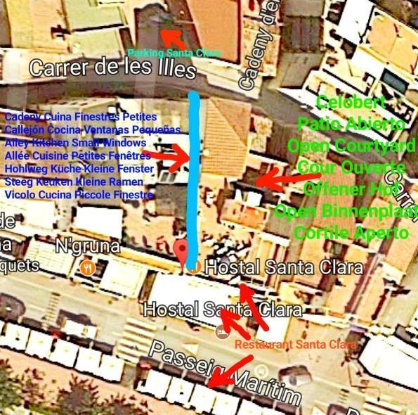 Mapa hostal santa clara estartit l estartit