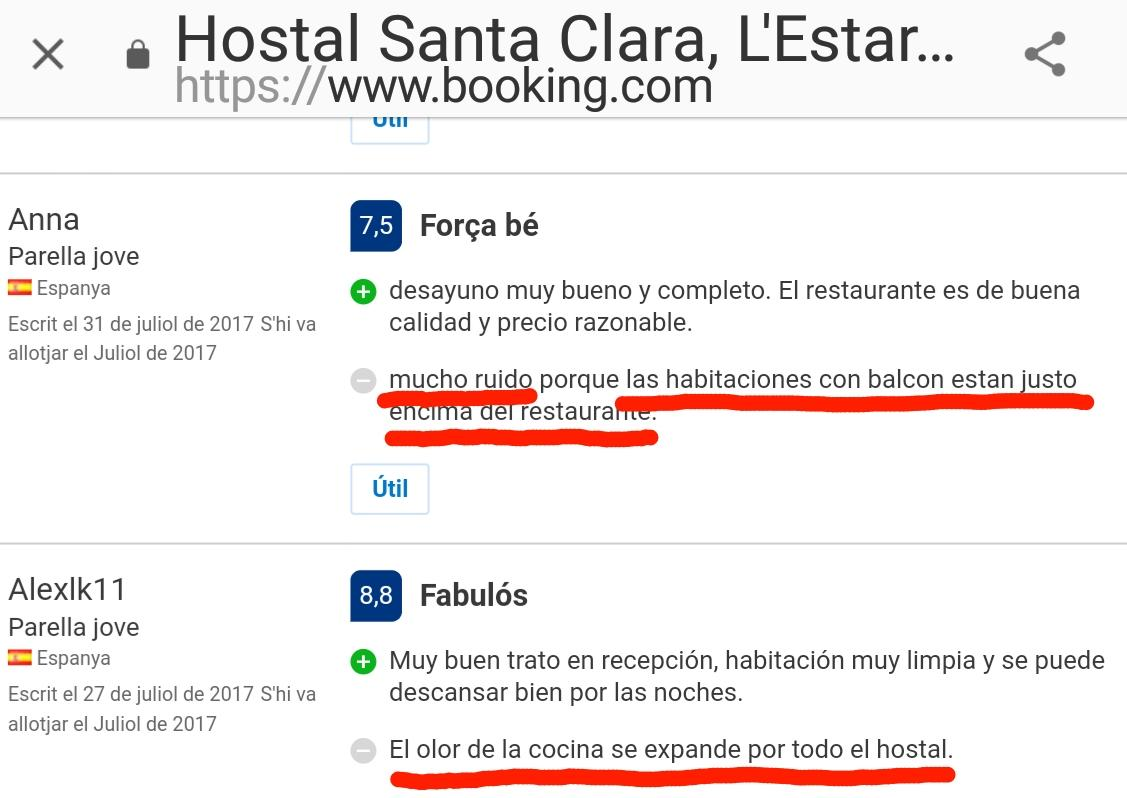 Hostal Hotel Estartit Santa Clara hoteles restaurantes