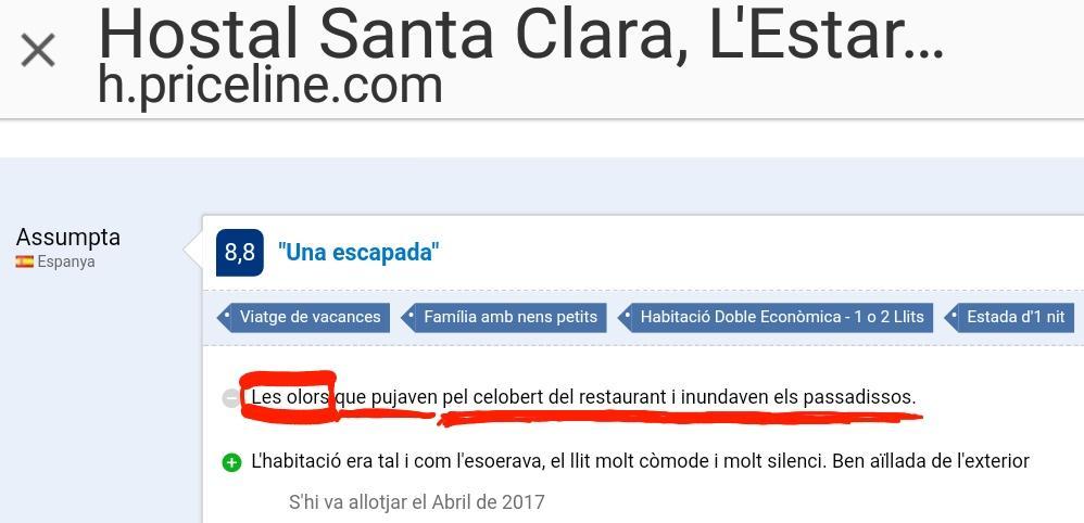 Estartit Santa Clara Hostal opinions Restaurant Hoteles