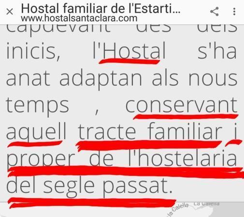 Tracte familiar hostal santa clara estartit