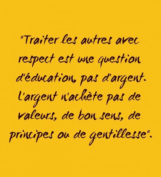 Traiter respect francais